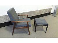 Vintage Scandinavian Armchair Design Loft Modern New Upholstery Mid Century