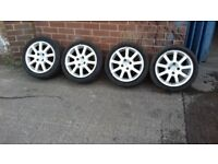 "Peugeot 16"" Nimrod Alloy Wheels Complete With Tyres SET of 4................. Leeds........."