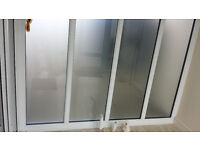 Glazed wall, comprising of a bank of 4 windows. Excellent condition