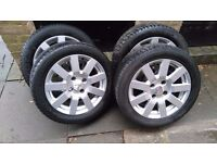 "15""Ford alloys, fit fiesta, focus, puma with bolts, lock nuts"