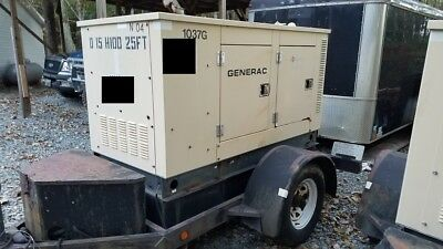 Generac 15 Kw Portable Diesel Generator - 1645 Hours - Ready To Go