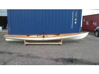 FAST REAR FACING SLIDING SEAT ROWING BOAT, EXPEDITION WHERRY, NEWLY BUILT