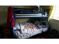 Bunk bed with double