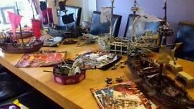 Complete pirates of the Caribbean mega bloks pirate ships