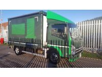 2012- 62 plate isuzu n75-190 auto 3 metre curtainsider ex our own contract plus vat