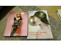 Vintage fashion books