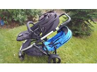 DOUBLE BUGGY. BRITAX B DUAL. SUITABLE FROM BIRTH FOR TWO