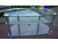 glass tv unit suitable for large tv good condition. we live west hull