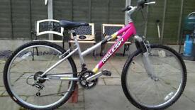 Ladies Raleigh mountain bike, front suspension,Good condition
