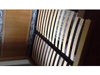marks and Spencers king size bed solid wood