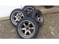 Rota Grid V 15 x 8j ET0 + Tyres / New and unused