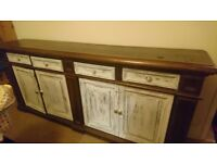 Free solid timber long buffet cabinet