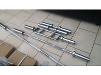 """OLYMPIC 2"""" 6FT BARBELL GYM GEAR COMMERCIAL STANDARD WEIGHS 15KG"""