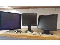 JOBLOT MONITORS (x3) | XEROX XA7 19'' LCD | NEC 15'' LCD | HANON 17'' LCD