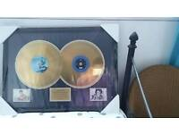 limited edition gold disc