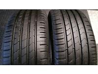 205 50 16 2 x tyres Kumho Ecsta HS51