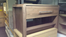 WALNUT 1 DRAWER COFFEE TABLE/TV STAND