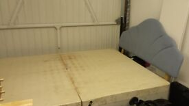 FREE double bed base and headboard (mattress available)