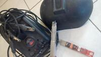 70a arc welder with mask and electrodes