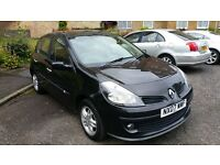 Renault Clio Dynamique black with rare double sunroof,low milleage long mot