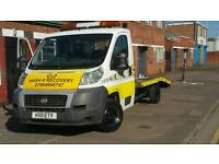 Car Vehicle Breakdown Recovery Collection & Transpotng service Leicester 24/7 local & M1 J22 J20 M69