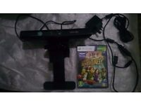 XBOX Kinect Motion Control Camera with TV Mounting bracket + Kinect Adventures