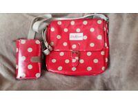 Cath Kidston messenger handbag and matching purse