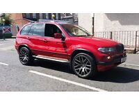 "Stunning fully loaded rare imola red x5 tvs dvd panaromic roof 22"" onyx alloys full mot"