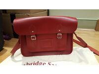 Cabridge satchel company 14 inch red satchel