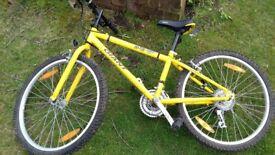 """Mountain bike 24"""" wheels 21 speed grip shift gears"""