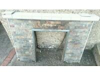 Fireplace In Slightly Distressed Condition