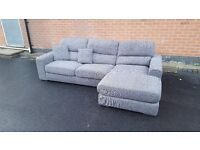 Comfy 1 month old grey fabric corner sofa. only used for few days.excellent condition.can deliver