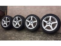 Set of 16 inch fox racing alloys with tyres of a corsa fitment 4×100