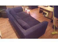 Navy cord sofa