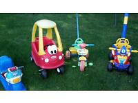 Child's outdoor ride on toys