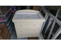 3 Drawer Baby Dresser (With Baby Changing Mat)