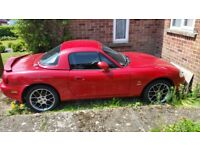 Mazda MX5, special edition, velocity red, black/red, leather