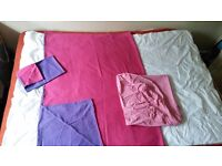 DUVET AND SHEETS - Single/Small-double bed full linen set - real cotton