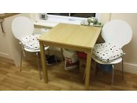John Lewis breakfast table and 2 chairs