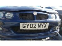 2002 MG ZR 105 (MANUAL PETROL)- FOR PARTS ONLY
