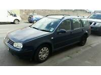 Volkswagen Golf 1.9 TDI Estate. Sold as Spares or Repairs