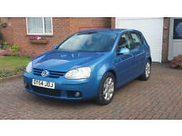 VW GOLF GT TDI (140 BHP)-2005,12 MONTHS MOT-FULL S/History,AIR CON/ALLOY/5 Door/IMMACULATE Condition
