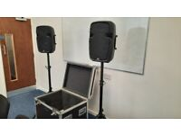 PA system with professional mixer and custom flight case