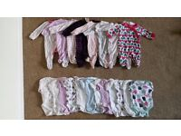 baby girl newborn clothes over 40 items vests sleepsuits dresses tops ..