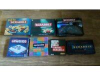 7 x games scrabble / upwords / namesake / brand new sealed