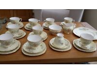 Vintage Bone China 33 Piece Tea Set