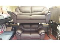 ROSELLA 3+2 BONDED LEATHER SOFA BRAND NEW PACKED £399