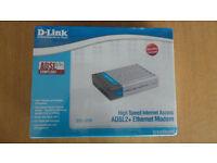D-LINK DSL-320T ADSL2+ ETHERNET MODEM (NEW & UNUSED)