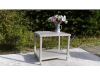 Vintage Tea/Drinks Trolley. Solid Teak, Shabby Chic, Paris Grey. Delivery Available.