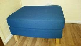 Footstool - Ikea Karlstad, removable cover